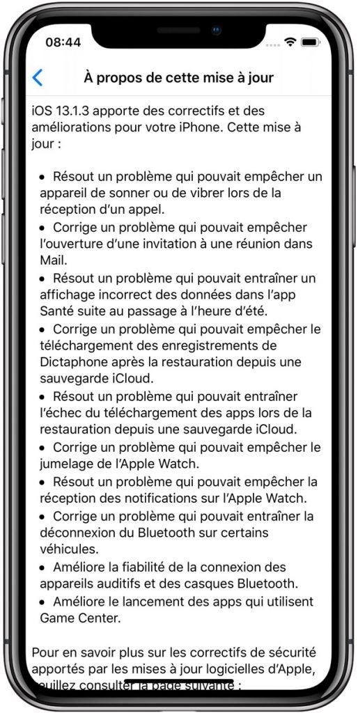 iOS 13.1.3 et iPadOS 13.1.3 sont disponibles: avec une flopée de correctifs 2