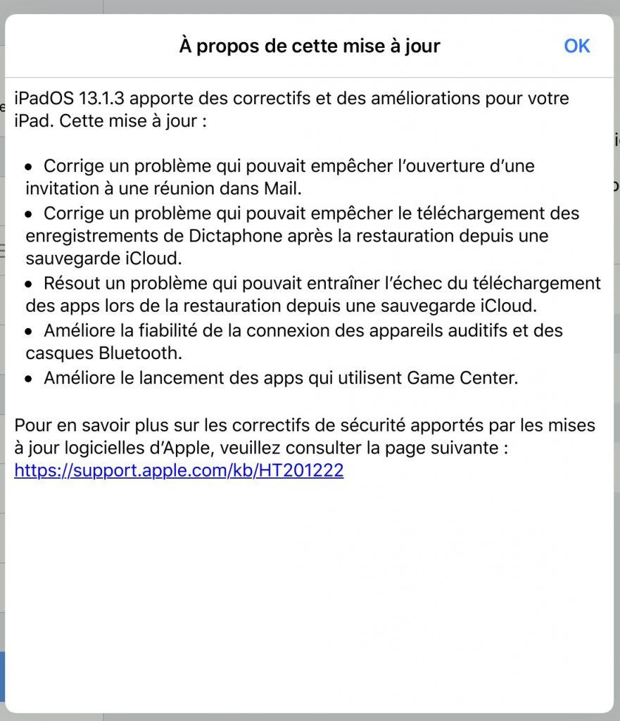 iOS 13.1.3 et iPadOS 13.1.3 sont disponibles: avec une flopée de correctifs 3