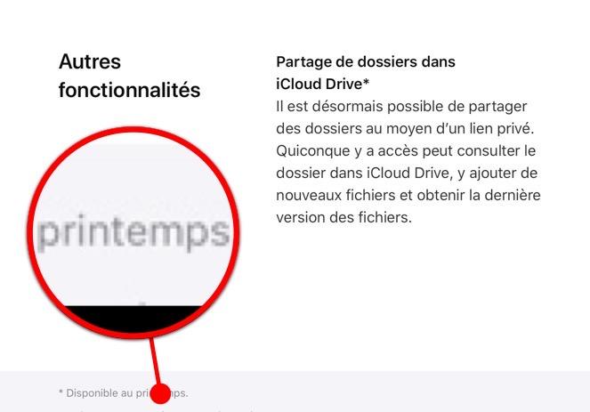 dossier collaboratif iCloud