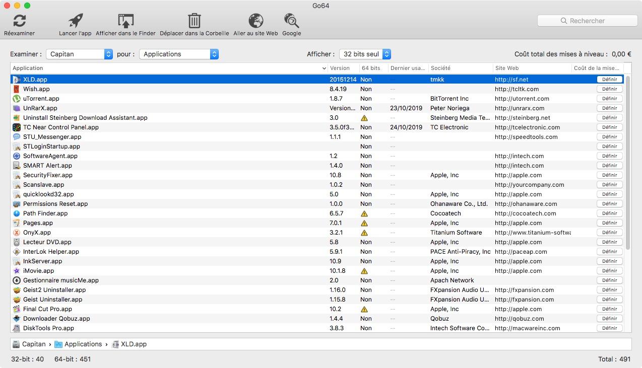 Go64 macOS 32 bits