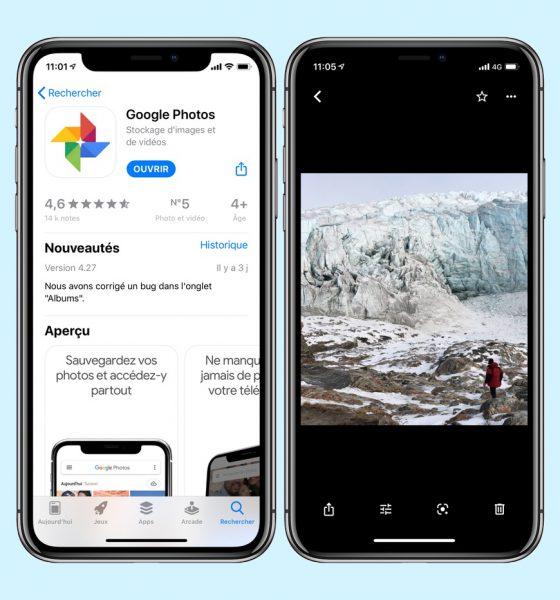 Google Photos sur iPhone