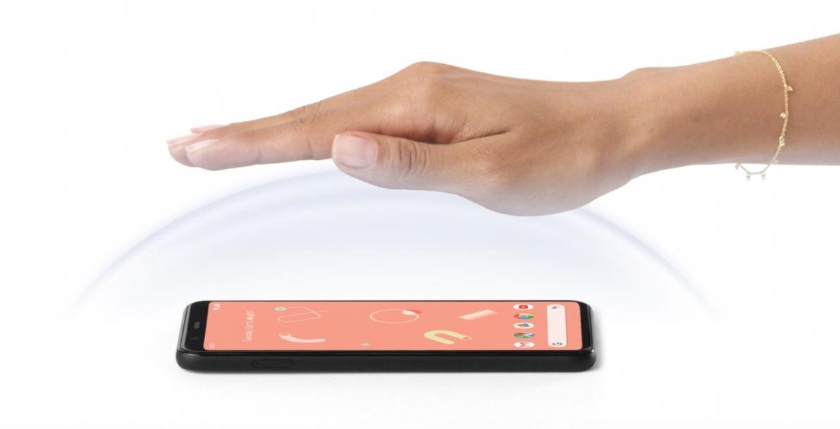 Google Pixel 4 contrôle gestes