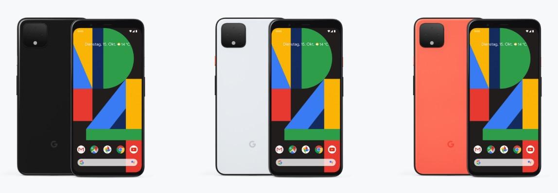Google Pixel 4 coloris
