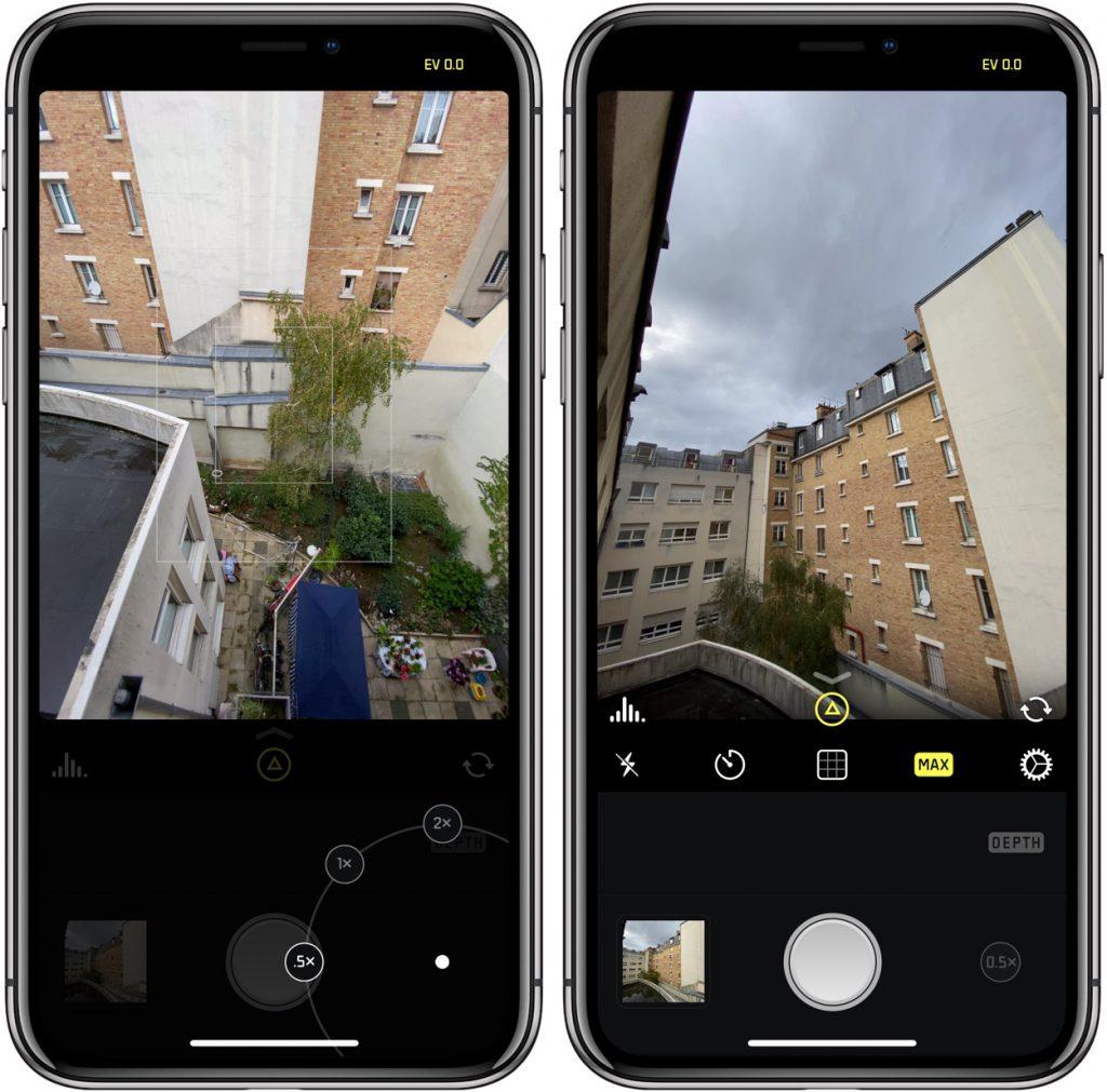 Halide sur iPhone 11 Pro