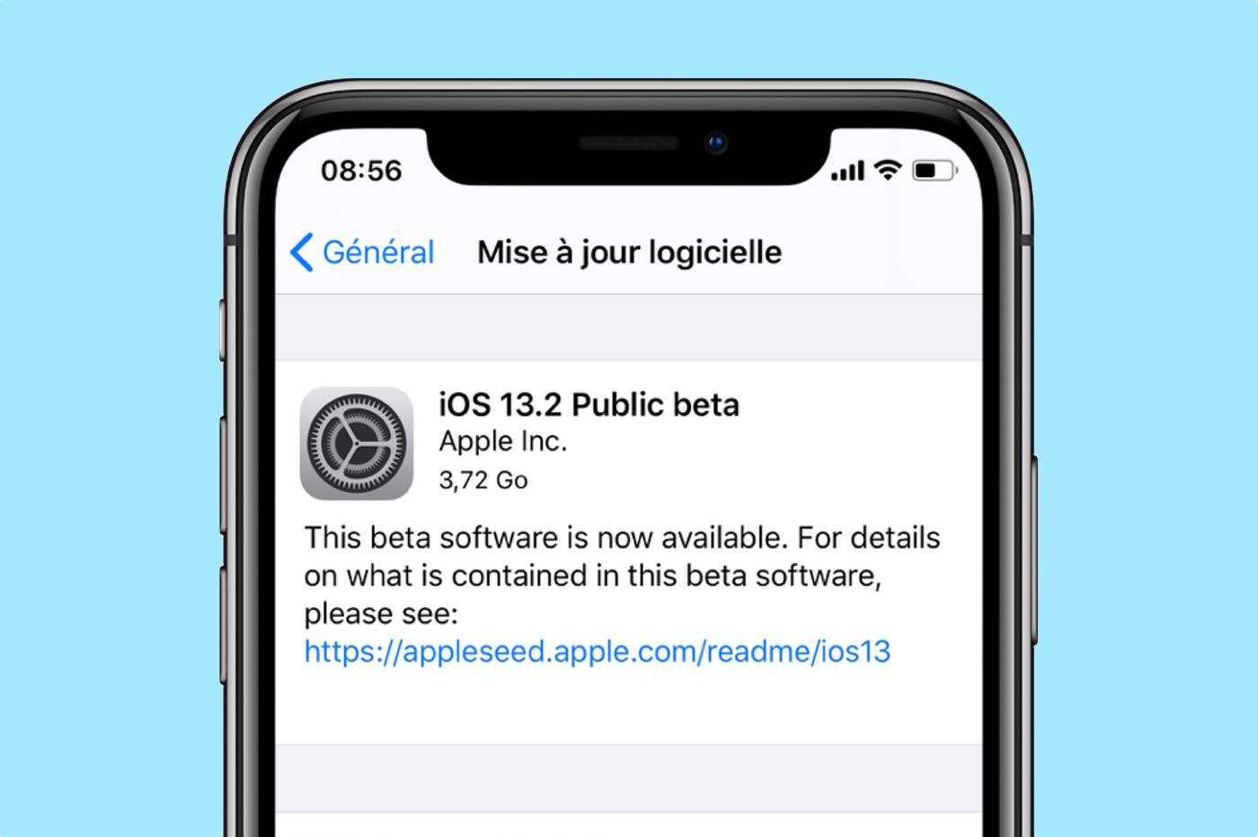 iOS 13.2 beta publique