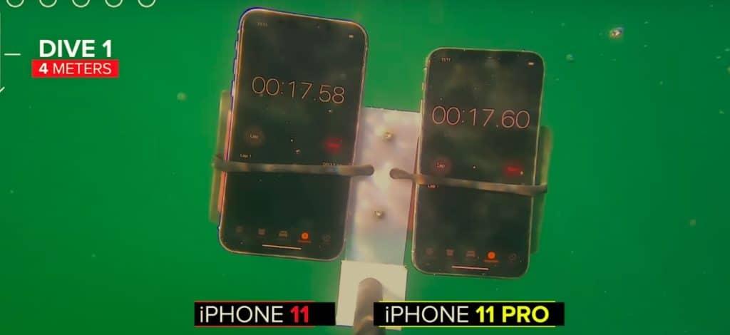 Test résistance à l'eau iPhone 11 et 11 Pro