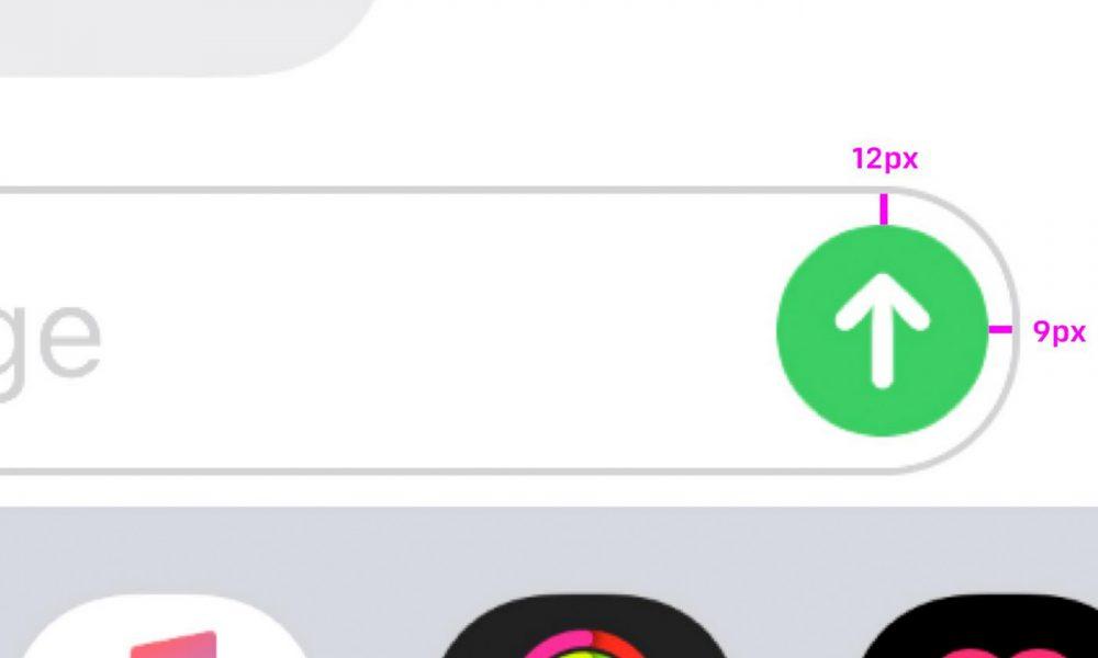 iPhone bouton envoi de message