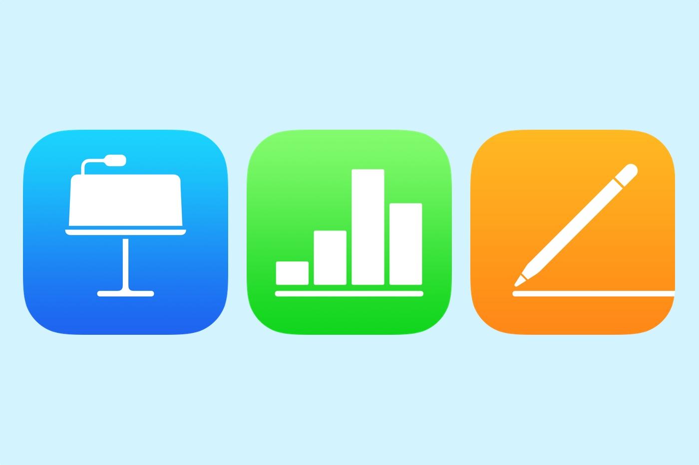 suite iWork iOS 13