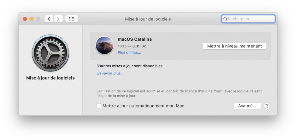 macOS Catalina est disponible pour tous les utilisateurs 1