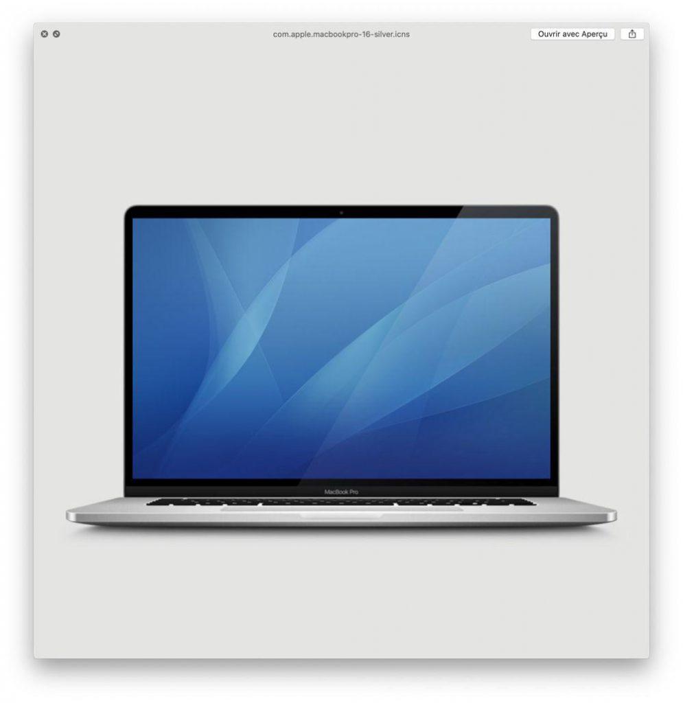 MacBook Pro 16 pouces Argent
