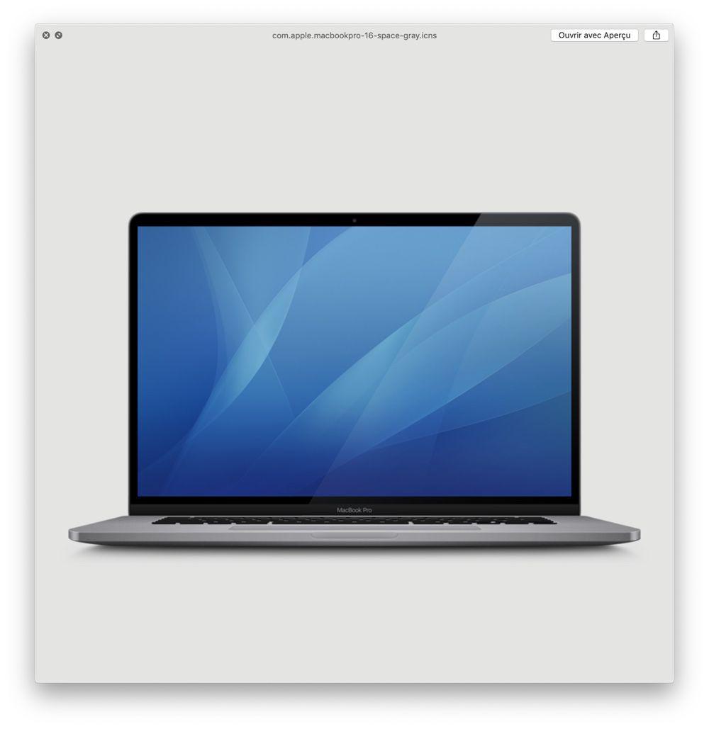 MacBook Pro 16 pouces Gris Sidéral