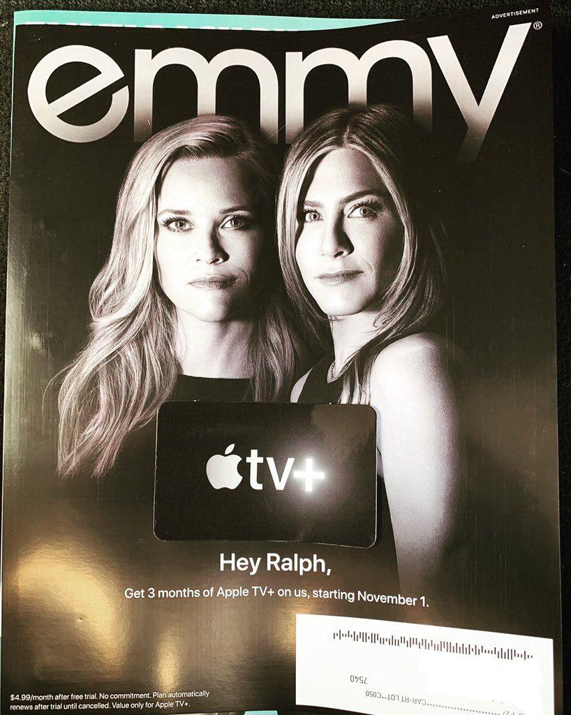 promotion Apple TV+ dans le magazine Emmy
