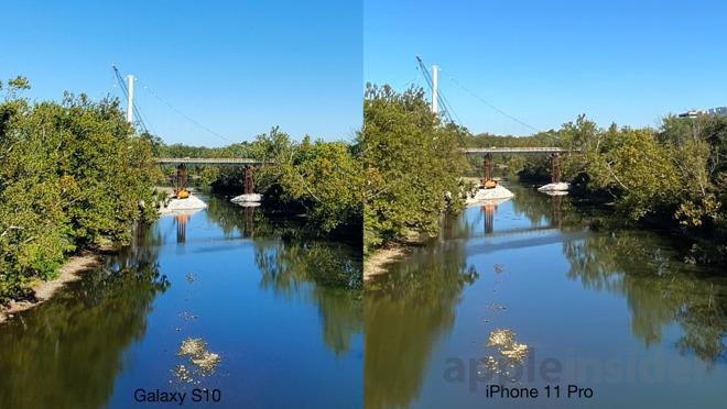 Galaxy s10 versus iPhone 11 Pro, zoom