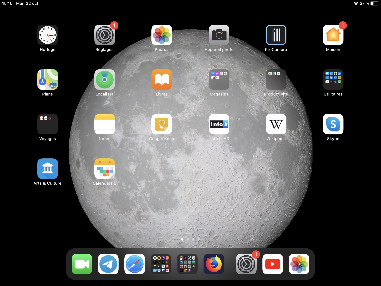 Tutoriel changer taille icônes iPadOS