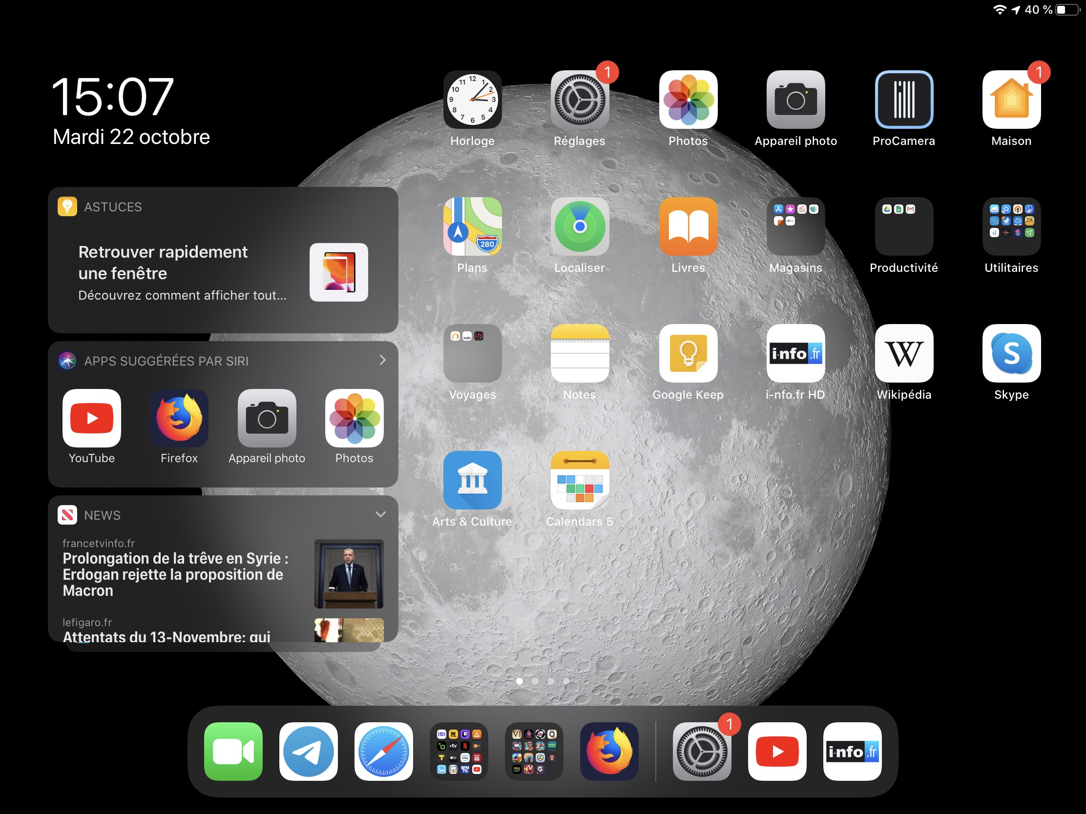 Comment changer taille icônes iPad