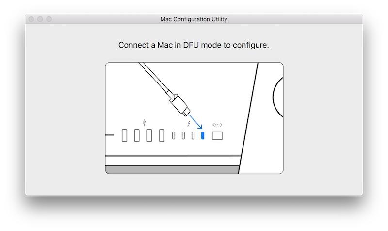 utilitaire de configuration mac