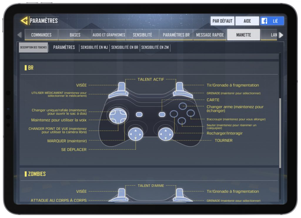 Call of Duty Mobile manette