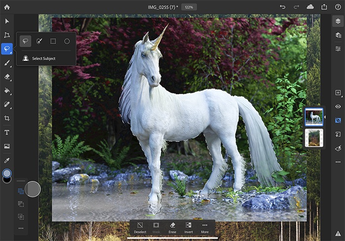 fonctions Photoshop sur iPad