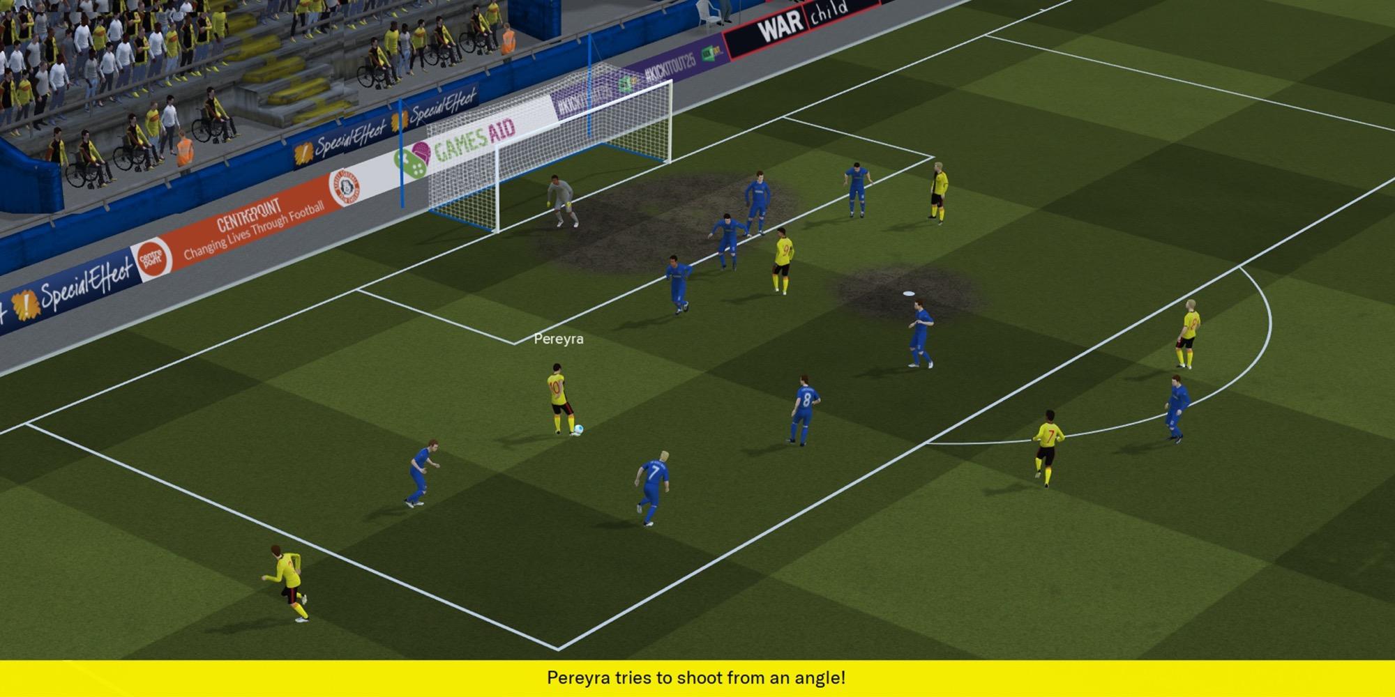 Football Manager 2020, match 3D