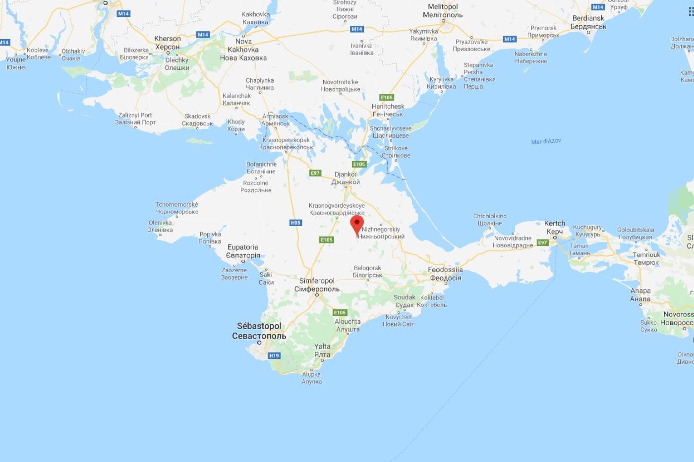 Google Maps Crimée