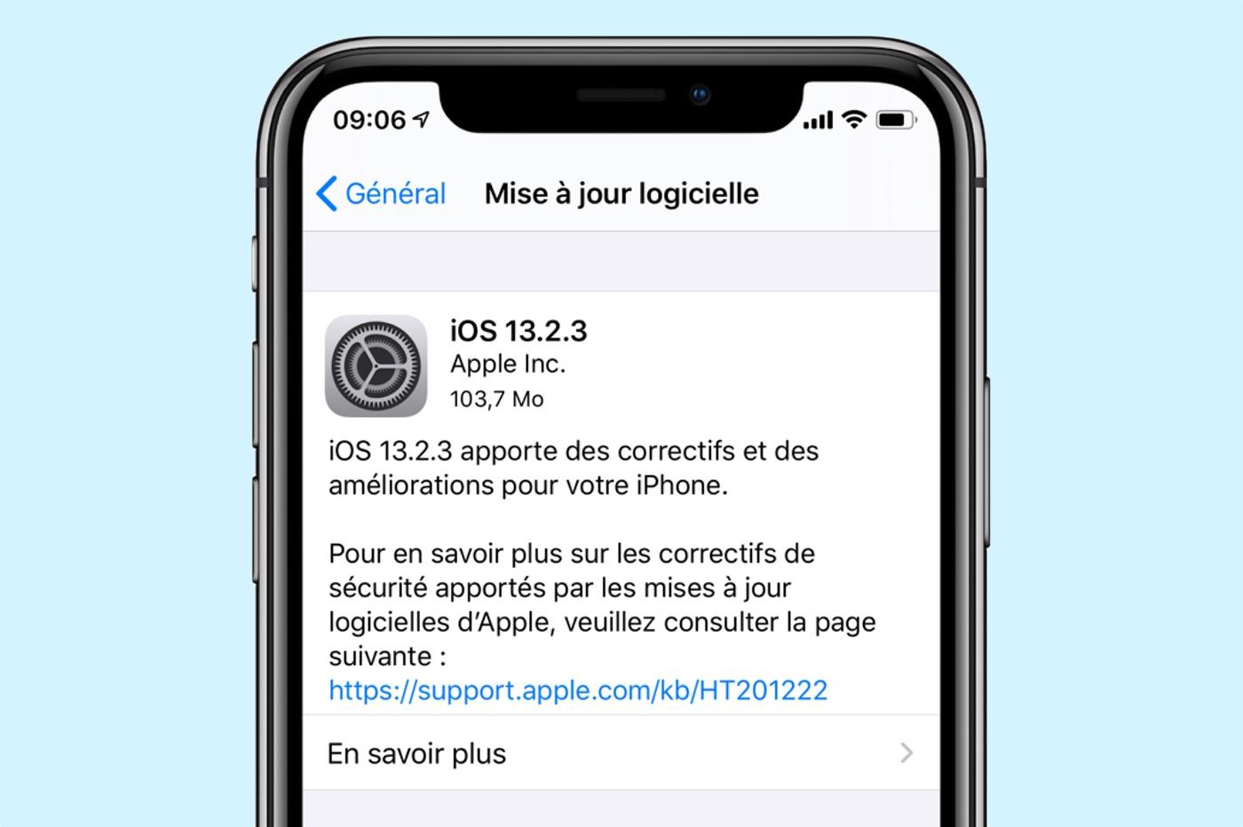 iOS 13.2.3 est dispo