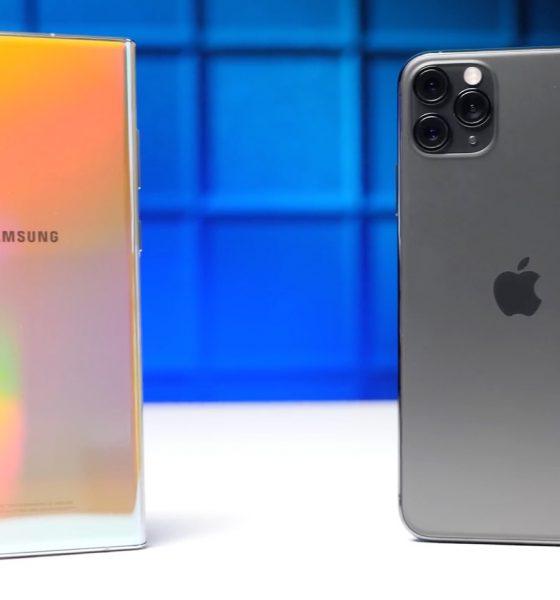 Comparatif Galaxy Note 10+ vs iPhone 11 Pro Max