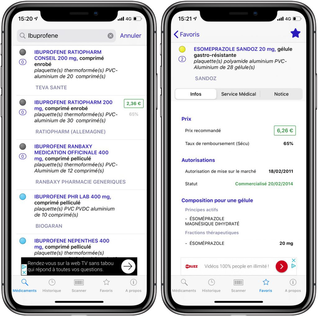 Medico, app iPhone