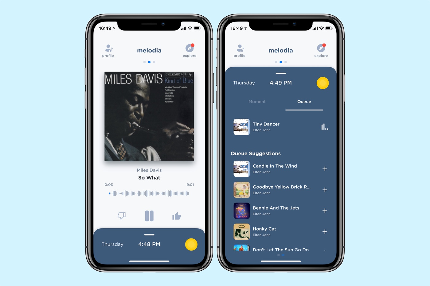 Melodia app iPhone