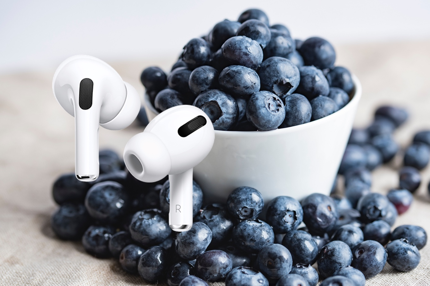 AirPods Pro myrtille