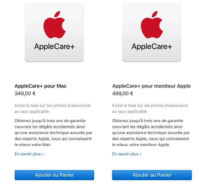 AppleCare+ Mac Pro et Pro Display XDR