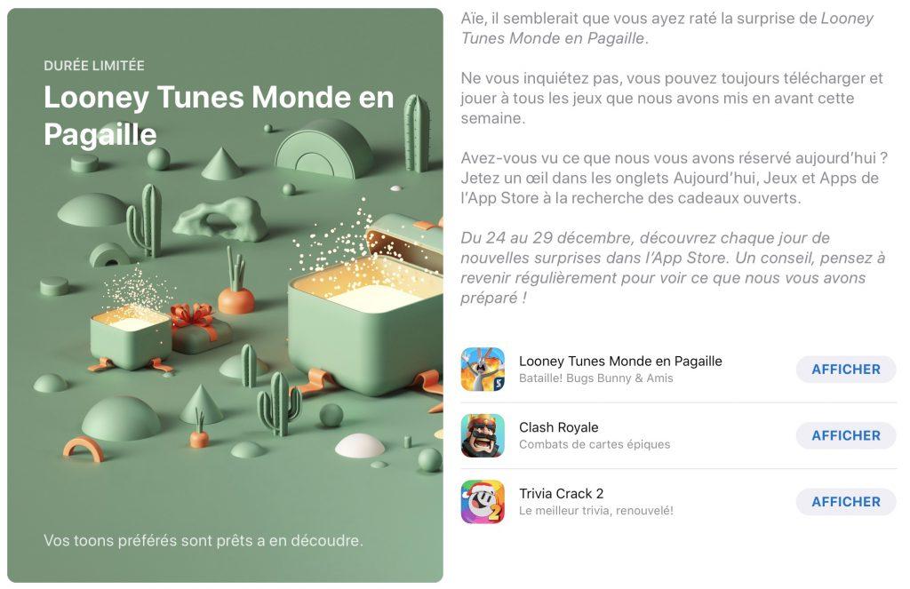 App Store: cadeaux Apple 2019