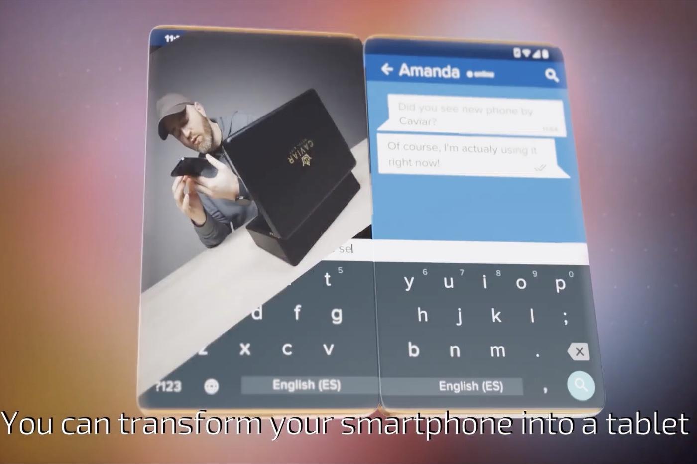 concept iPhone deux écrans