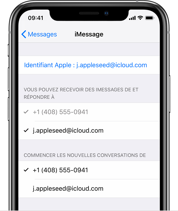 iOS 13 reglages iMessage
