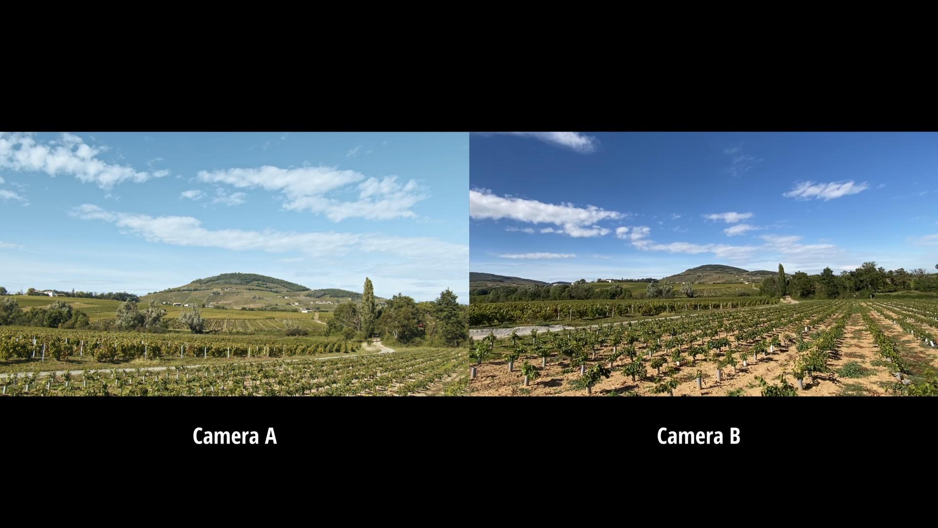 Comparatif vidéo iPhone 11 Pro versus caméra TV