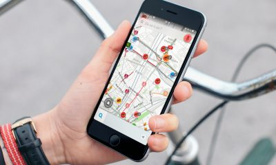 iPhone Waze vélo