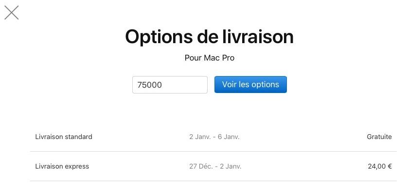 Livraisons Mac Pro France