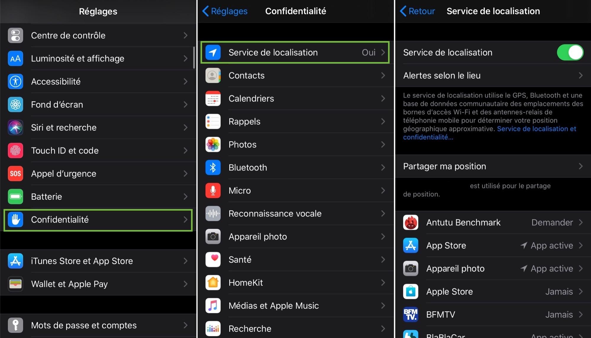 Localisation iOS 13