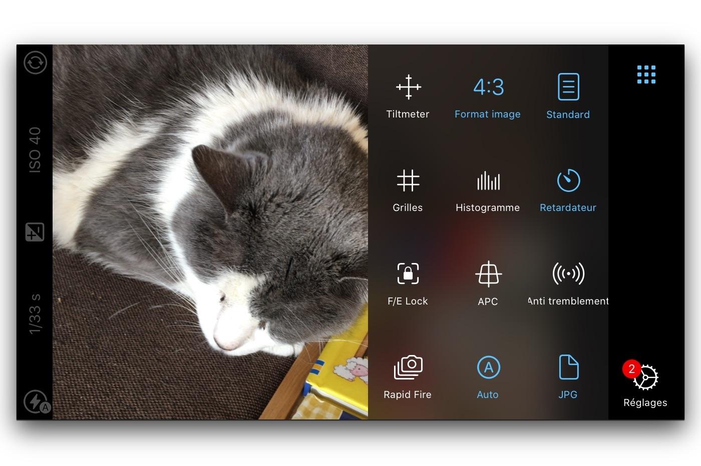 App iOS ProCamera.