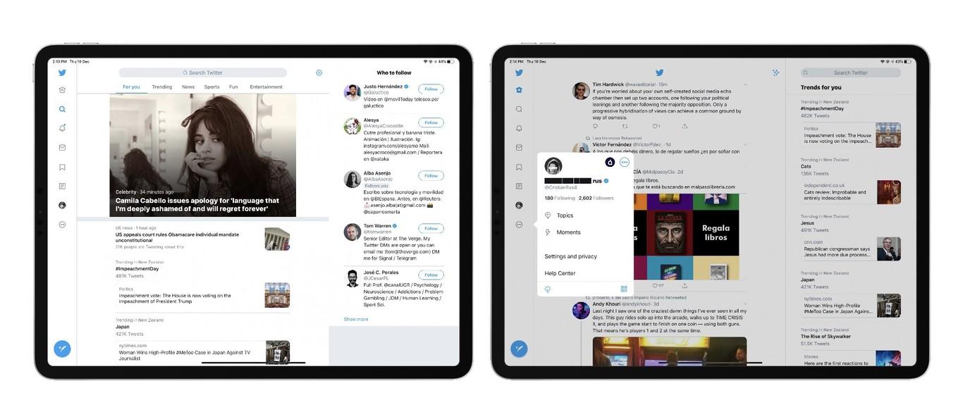 client twitter iPad