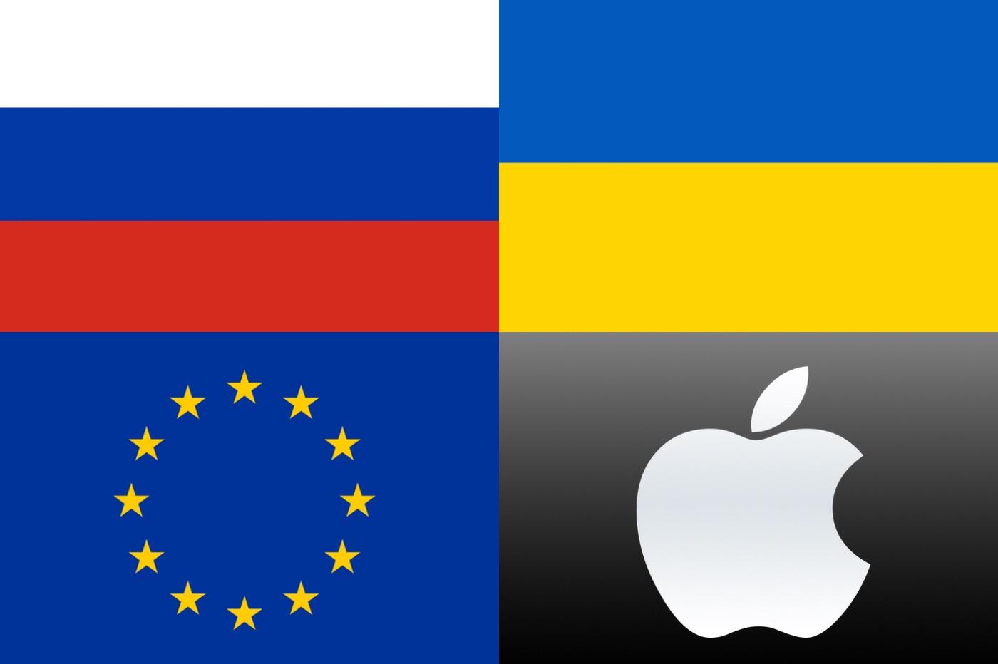 Ukraine, Russie, U.E., Apple