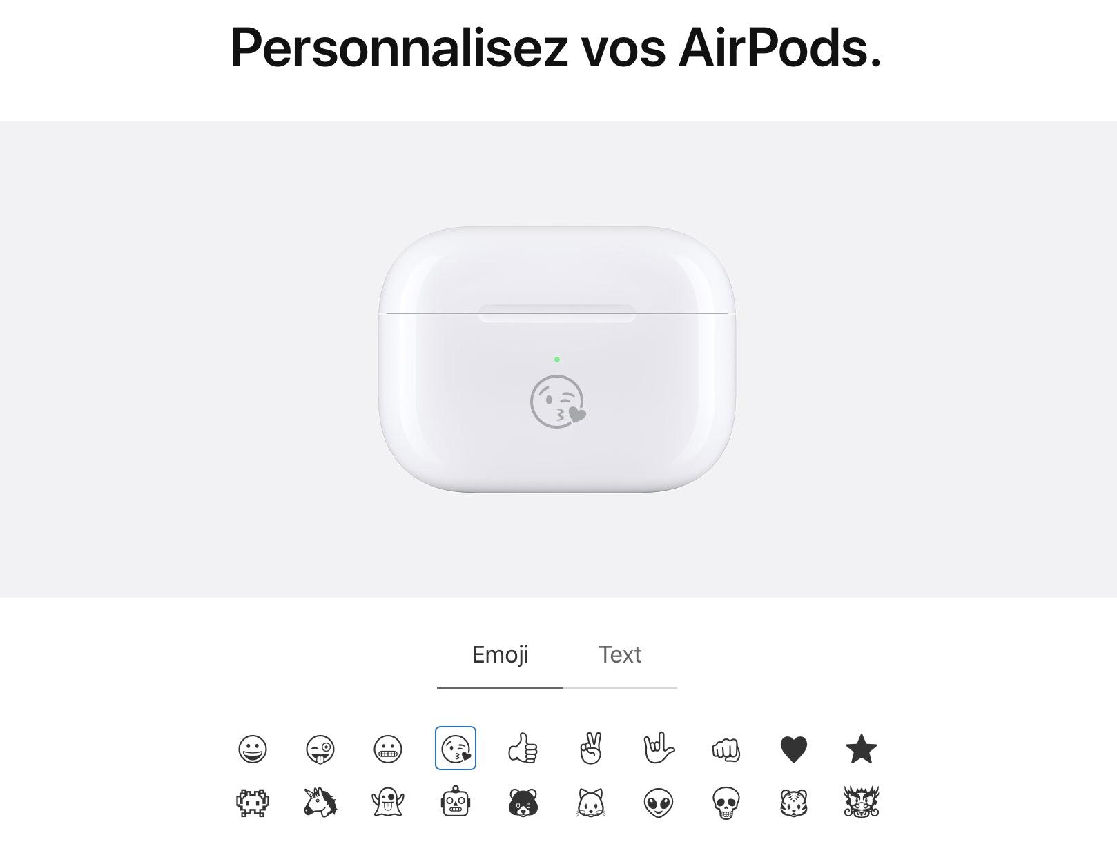 gravure boitier AirPods