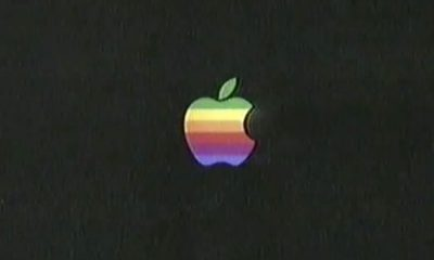 Logo Apple en couleurs