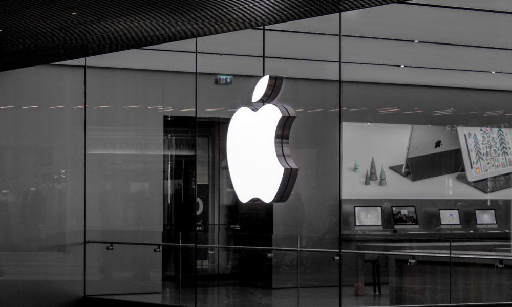 Apple Store noir et blanc et logo