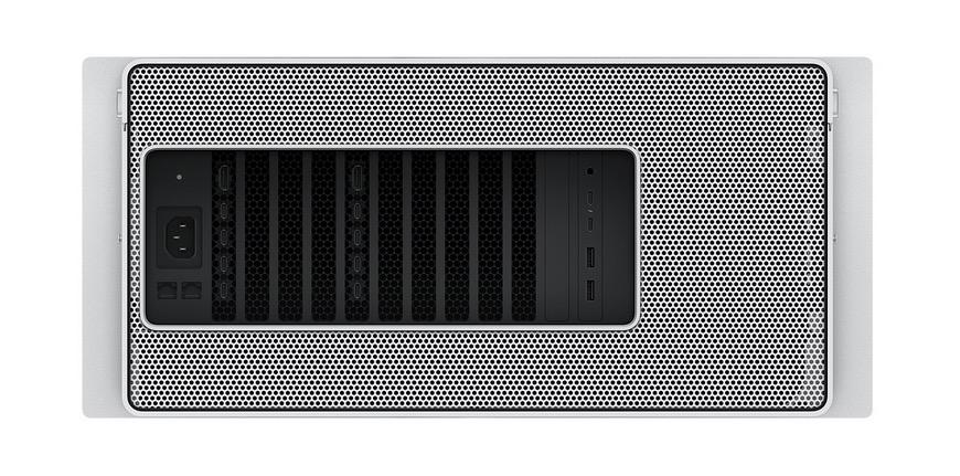 Mac Pro 2019 en format rack, vue arrière