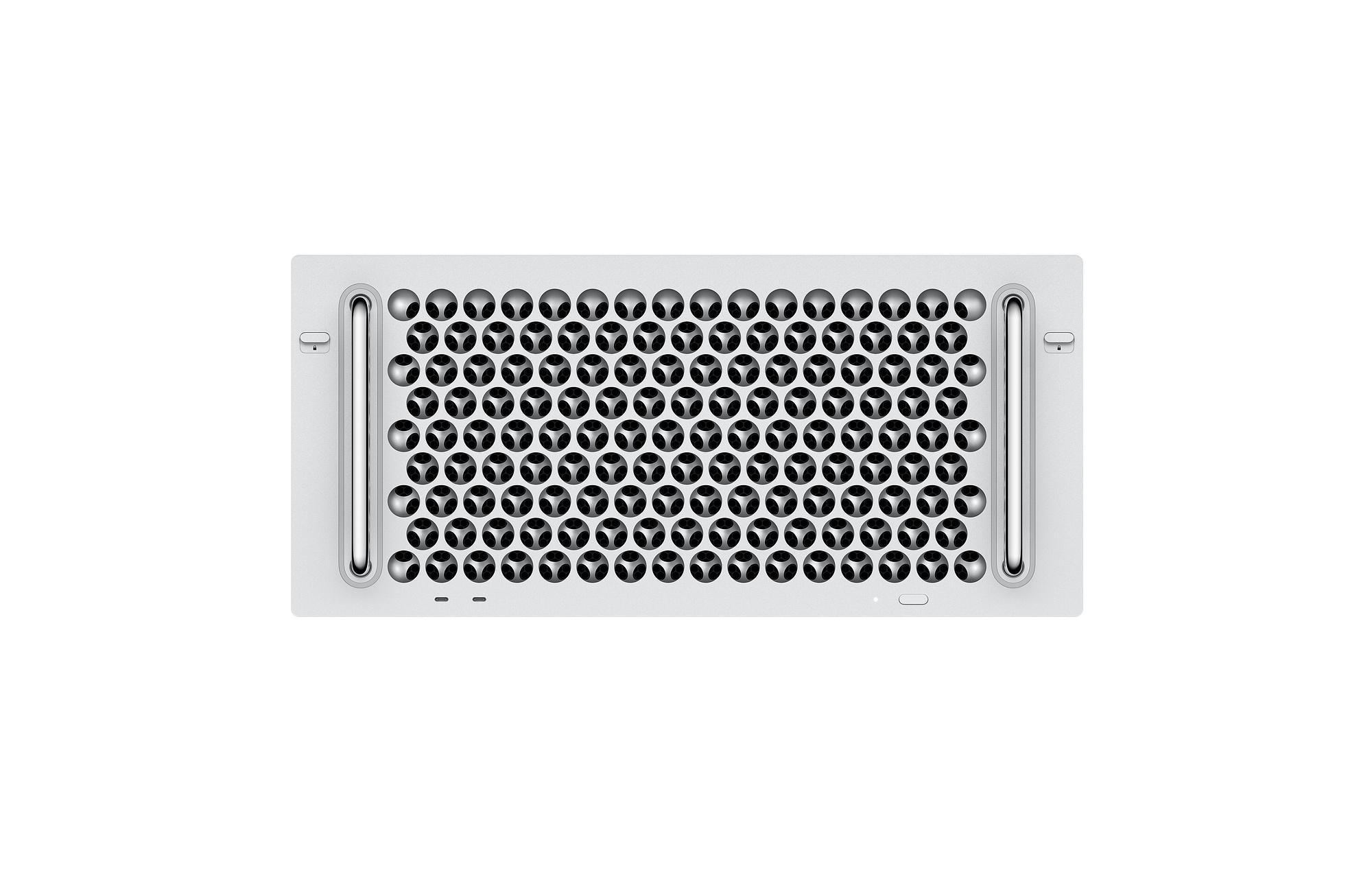 Mac Pro 2019 en format rack, vue de face