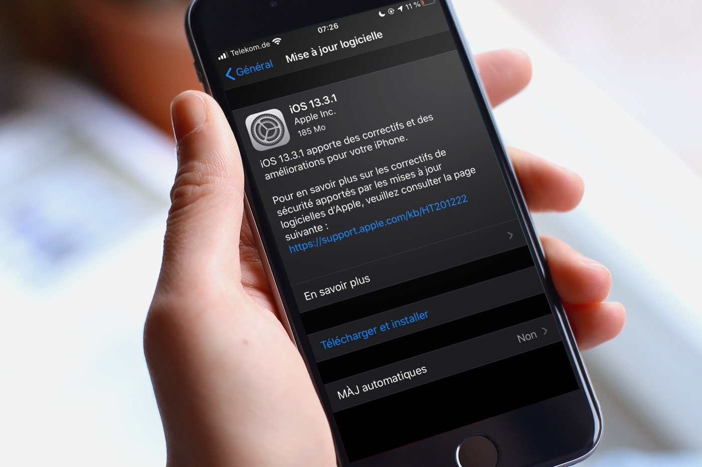 Mise à jour iOS 13.3.1