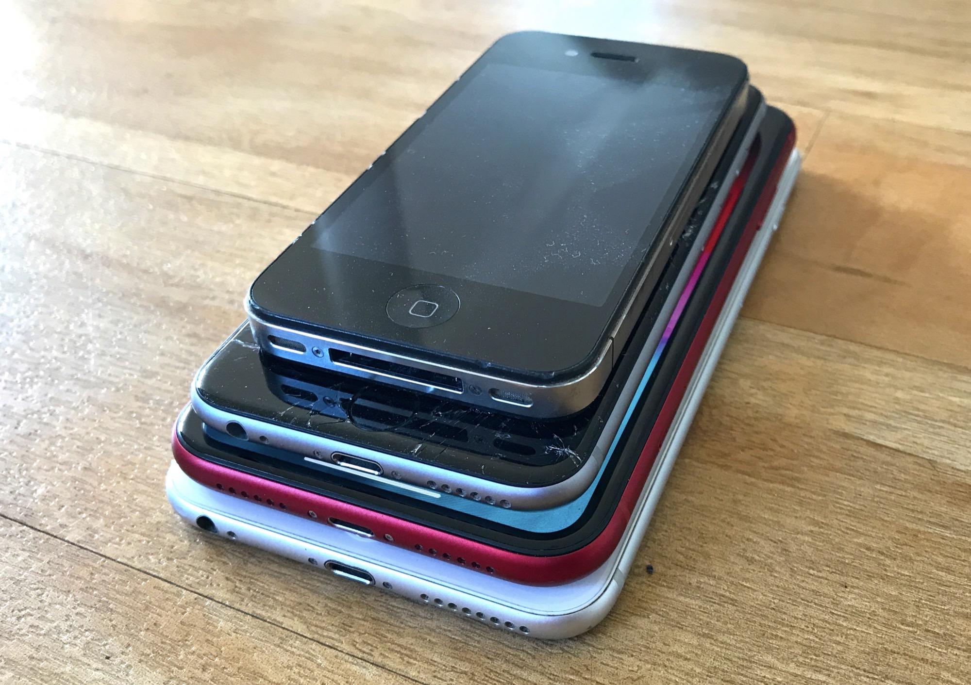 Pile d'iPhone
