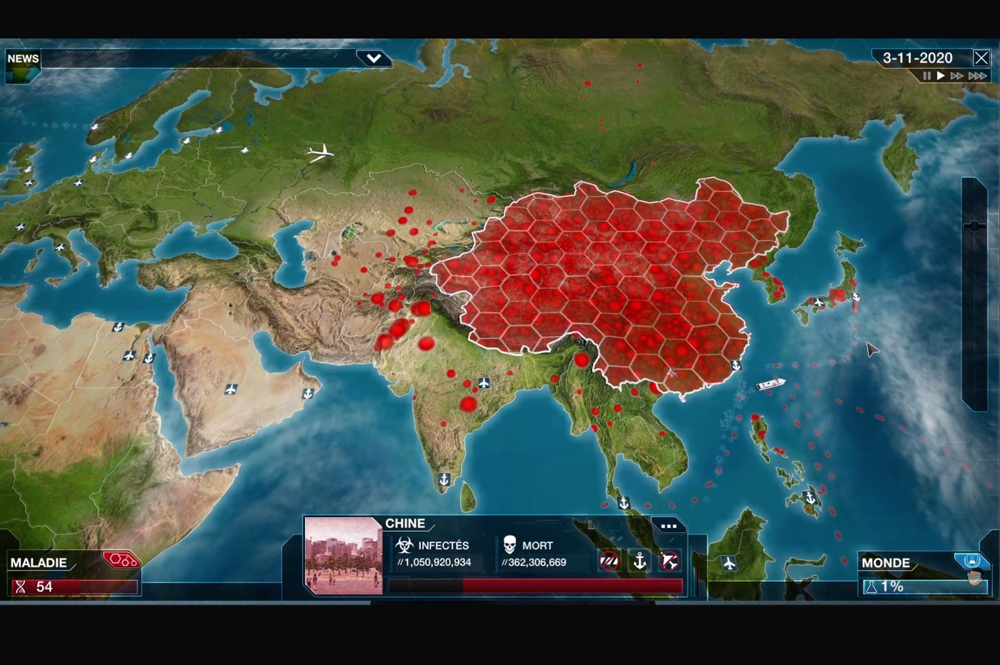 Jeu iOS Plague Inc.