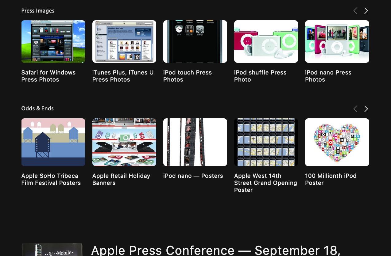 Les archives non officielles d'Apple