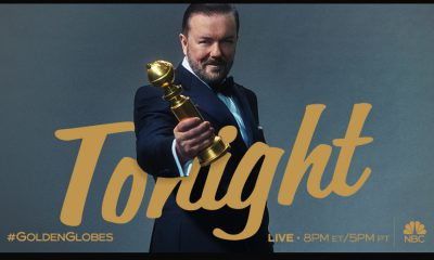 Ricky Gervais et Tim Cook aux Golden Globes